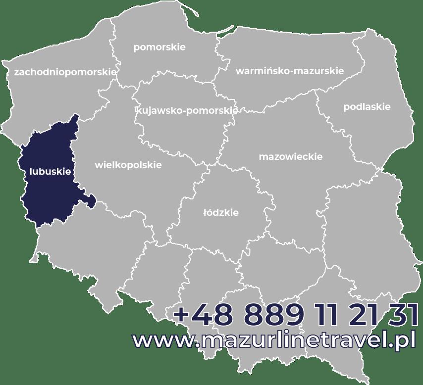 Bus lubuskie Polska Niemcy Holandia Belgia Dania