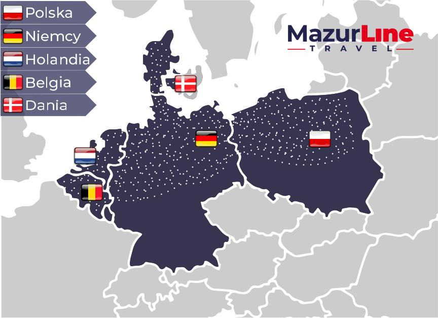 Polska Niemcy Holandia Belgia Dania transport z adresu pod adres