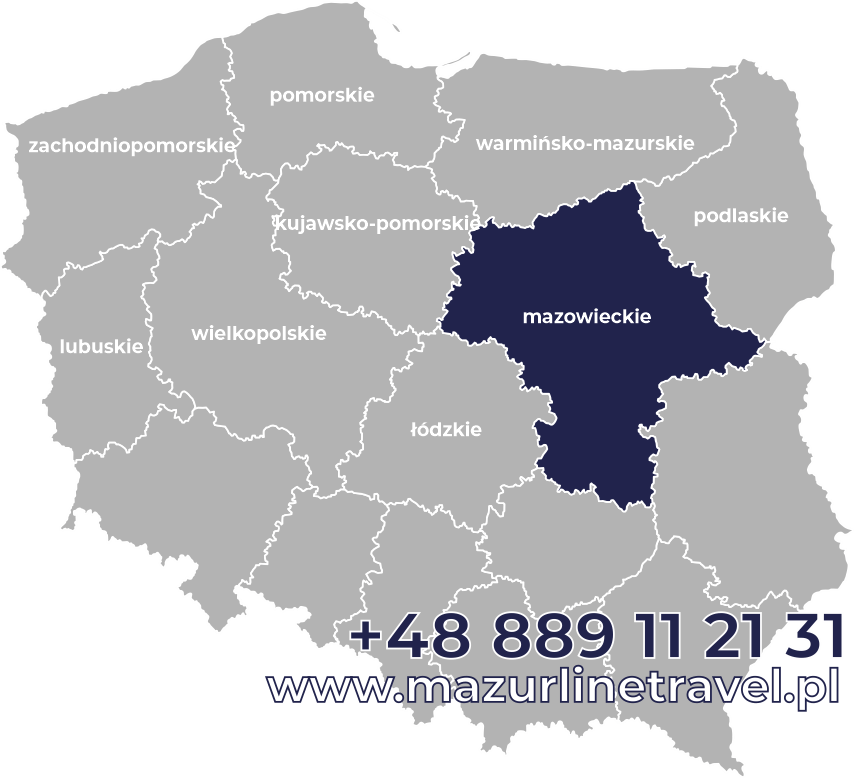 Busy mazowieckie Polska Niemcy Holandia Belgia Dania