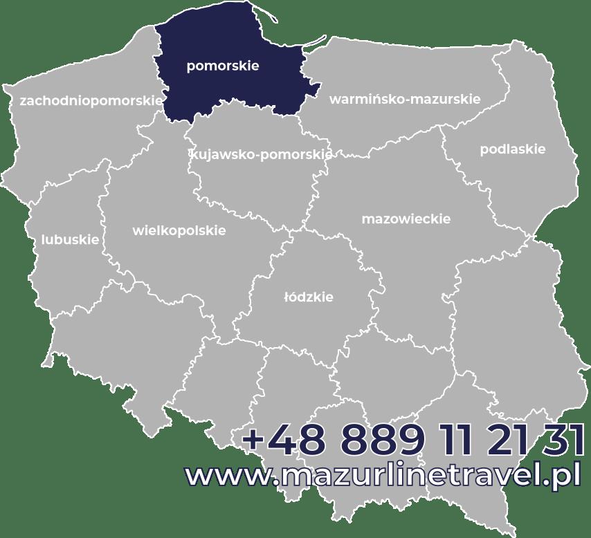 Bus pomorskie Polska Niemcy Holandia Belgia Dania
